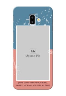 Samsung Galaxy J6 Plus Phone Back Covers with Color Musical Note Design