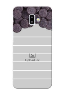 Samsung Galaxy J6 Plus Custom Mobile Covers with Oreo Biscuit Design