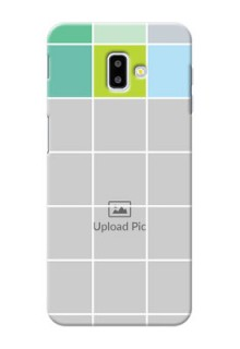 Samsung Galaxy J6 Plus personalised phone covers with white box pattern
