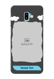 Samsung Galaxy J6 Plus Mobile Back Covers: splashes with love doodles Design