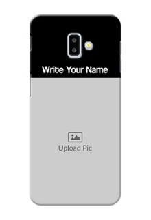 Galaxy J6 Plus Photo with Name on Phone Case