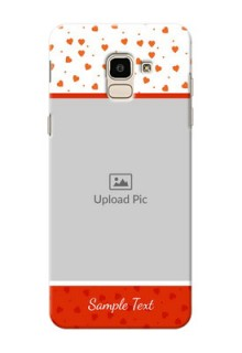 Samsung Galaxy J6 Orange Love Symbol Mobile Cover Design