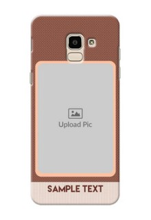 Samsung Galaxy J6 Simple Photo Upload Mobile Cover Design