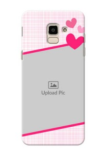 Samsung Galaxy J6 Pink Design With Pattern Mobile Cover Design