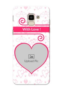 Samsung Galaxy J6 Pink Colour Mobile Case Design