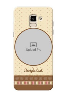 Samsung Galaxy J6 Brown Abstract Mobile Case Design