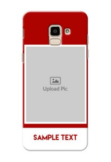Samsung Galaxy J6 Simple Red Colour Mobile Cover  Design