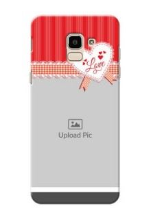 Samsung Galaxy J6 Red Pattern Mobile Cover Design