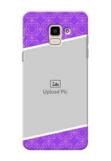 Samsung Galaxy J6 Violet Pattern Mobile Case Design