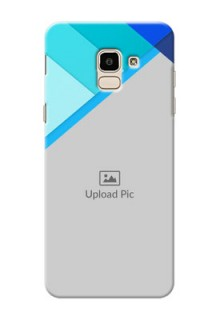 Samsung Galaxy J6 Blue Abstract Mobile Cover Design