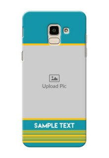 Samsung Galaxy J6 Yellow And Blue Pattern Mobile Case Design