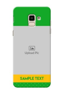 Samsung Galaxy J6 Green And Yellow Pattern Mobile Cover Design
