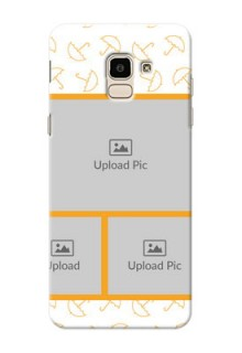 Samsung Galaxy J6 Yellow Pattern Mobile Back Cover Design