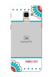 Samsung Galaxy J6 Colourful Flowers Mobile Cover Design