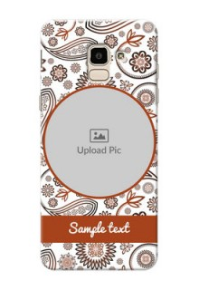 Samsung Galaxy J6 Floral Abstract Mobile Case Design