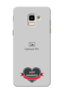 Samsung Galaxy J6 Just Married Mobile Cover Design