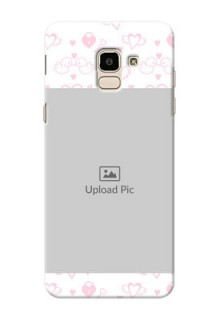 Samsung Galaxy J6 Flying Hearts Mobile Back Cover Design