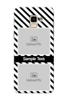 Samsung Galaxy J6 2 image holder with black and white stripes Design