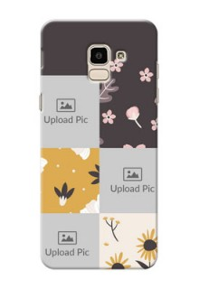Samsung Galaxy J6 3 image holder with florals Design