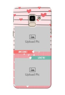 Samsung Galaxy J6 2 image holder with hearts Design