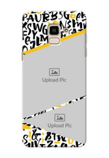 Samsung Galaxy J6 2 image holder with letters pattern  Design