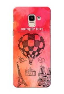 Samsung Galaxy J6 abstract painting with paris theme Design