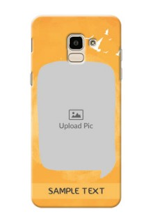 Samsung Galaxy J6 watercolour design with bird icons and sample text Design