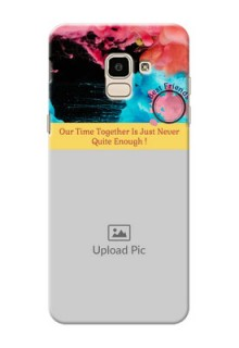 Samsung Galaxy J6 best friends quote with acrylic painting Design
