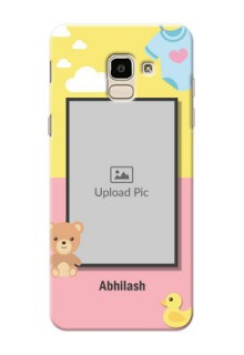 Samsung Galaxy J6 kids frame with 2 colour design with toys Design