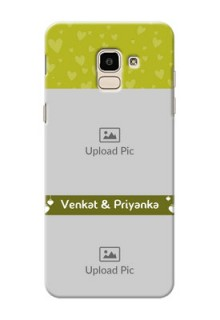 Samsung Galaxy J6 you and me design with hanging hearts Design