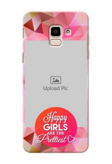 Samsung Galaxy J6 abstract traingle design with girls quote Design