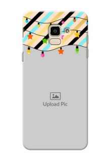Samsung Galaxy J6 diagonal stripped pattern with hanging lights Design
