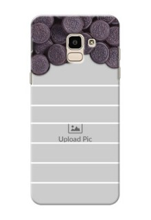 Samsung Galaxy J6 oreo biscuit pattern with white stripes Design