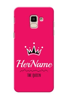 Galaxy J6 Queen Phone Case with Name