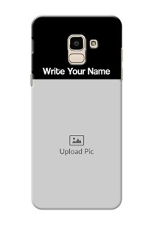 Galaxy J6 Photo with Name on Phone Case