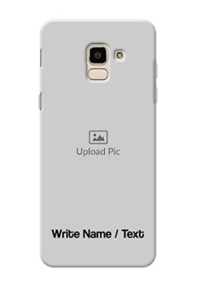 Galaxy J6 Mobile Cover: Photo with Text