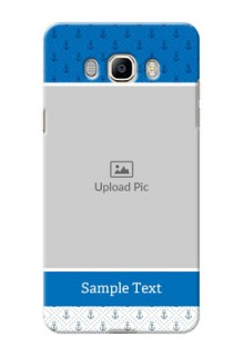 Samsung Galaxy J7 (2016) Blue Anchors Mobile Case Design