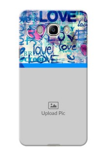 Samsung Galaxy J7 (2016) Colourful Love Patterns Mobile Case Design