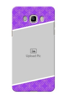 Samsung Galaxy J7 (2016) Violet Pattern Mobile Case Design