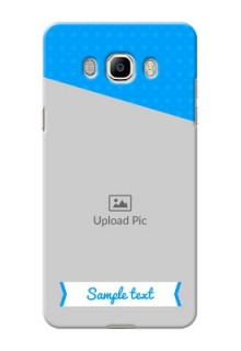 Samsung Galaxy J7 (2016) Premium Blue Colour Mobile Back Case Design