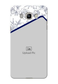 Samsung Galaxy J7 (2016) Floral Design Mobile Cover Design