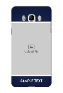 Samsung Galaxy J7 (2016) Simple Blue Colour Mobile Cover Design