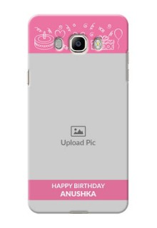 Samsung Galaxy J7 (2016) plain birthday line arts Design