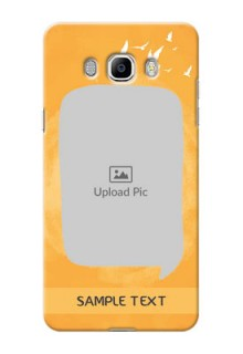 Samsung Galaxy J7 (2016) watercolour design with bird icons and sample text Design Design