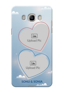Samsung Galaxy J7 (2016) couple heart frames with sky backdrop Design