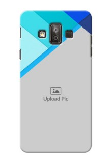 Samsung Galaxy J7 Duo Blue Abstract Mobile Cover Design