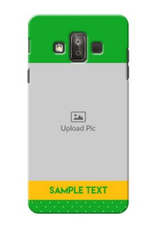 Samsung Galaxy J7 Duo Green And Yellow Pattern Mobile Cover Design
