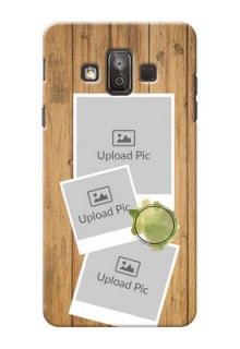 Samsung Galaxy J7 Duo 3 image holder with wooden texture  Design