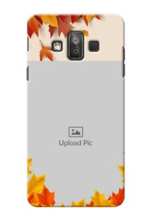 Samsung Galaxy J7 Duo autumn maple leaves backdrop Design