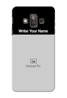Galaxy J7 Duo Photo with Name on Phone Case